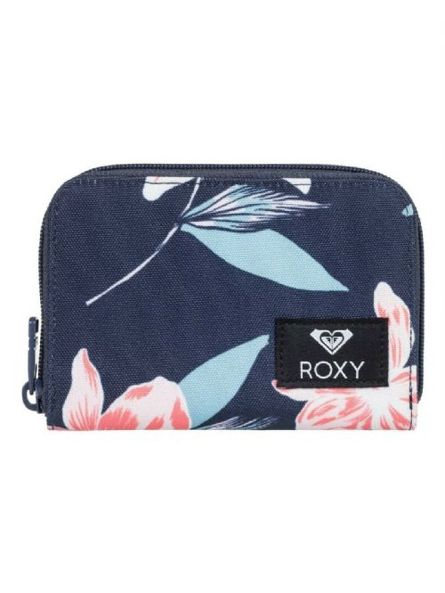 ROXY WOMENS PURSE.ZIPPED DEAR HEART NAVY FLOWER COIN CARD MONEY WALLET 9W 18BS